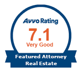 Avvo Rating 7.1 Very Good Featured Attorney Real Estate (opens in new window)